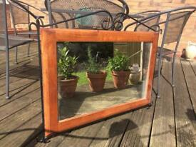 FREE large wooden mirror