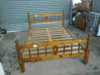Double wooden bed frame #32636 £65