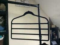 Various types of black clothing hangers - bundle discount!