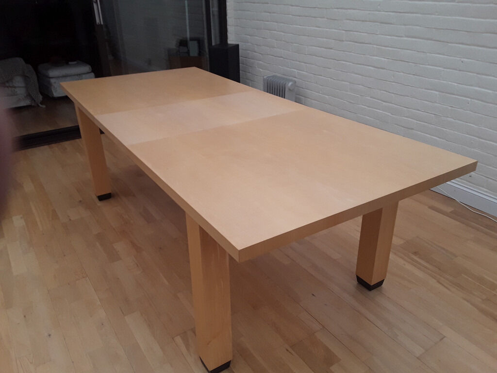 Large Light wood dining table