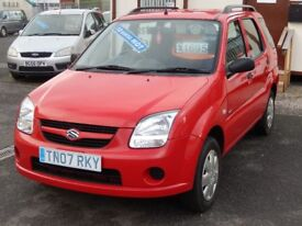 07/07 Suzuki Ignis 1.3 GL 5dr, Red. **12 Months MOT, Outstanding Condition**