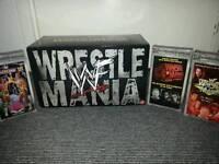 Wrestlemania 1-15 vhs boxset + 8 wwf videos