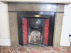 Antique Victorian Fireplace / Fire Surround