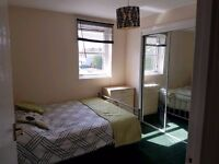 Short Term Double Room available in 2 bed flat for share from May 15