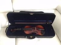 WD Full Size 4/4 Violin+ case &bow in new condition