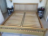 Super King bed frame. Marks and Spencer's furniture.
