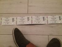 Zutons tickets x 4 Liverpool guild of students