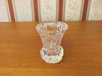 Pretty Little Glass Thistle Shaped Posy Vase