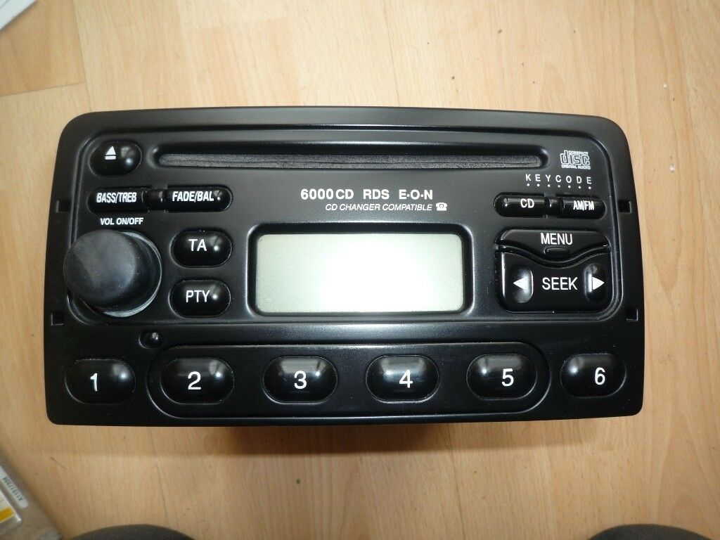 ford focus mk1 mondeo 6000 cd radio stereo player code. Black Bedroom Furniture Sets. Home Design Ideas