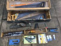 Selection of hand tools in fair condition