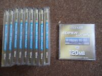10 x Maxell Super Disks 120mb