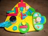 Playdough play table with accessories.