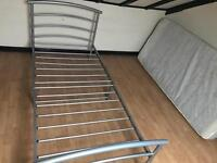 Metal bedframe in silver single clean condition