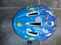Blue boys cycle helmet