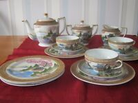 Vintage Japanese Porcelain Geisha Tea Set