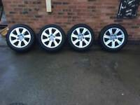 Genuine Audi A5 wheels with winter tyres 225/50R17
