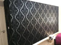 £80 PER FEATURE WALLPAPER FITTING. 24 HOUR CALL OUT SERVICE. FEATURE WALLS. PAINTER AND DECORATOR.