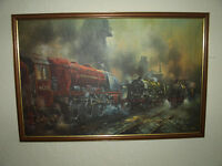 DAVID WESTON RAILWAY ENGINES PRINT
