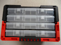 FISHING FLYS 4 Drawer Organiser carry case 4 trays inc 94 COMPARMENTS were £57 each new