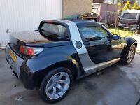 54 mercedes benz smart car roadster, orange interior