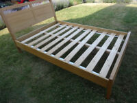 New Heights Solid Oak Double Bed