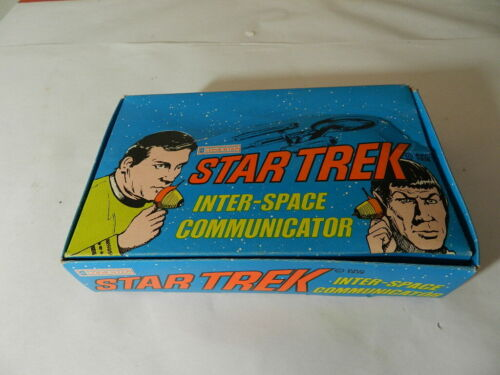 VINTAGE 1974 STAR TREK INTER-SPACE COMMUNICATOR-NOS -VINTAGE SPACE TOY- SPOCK