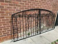 Wrought iron drive way gates