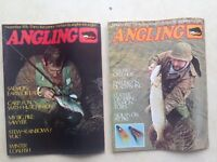 2 vintage 1977 'Angling' magazines