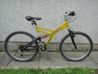 Giant Box two free ride series full suspension downhill mountain bike, 26 inch wheels, 21 gears
