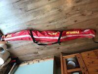Tyrolla skis and ski poles