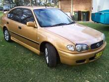 2000 Toyota Corolla Hatchback CHEAP MANUAL CAR SEP 2016 REGO Seaham Port Stephens Area Preview