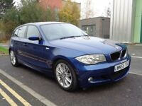 2005 BMW 1 SERIES 120D M SPORT , MANUAL DIESEL, FULL SERVICE HISTORY, 3 MONTHS WARRANTY