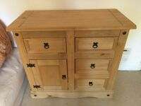Pine Wood Mexican Corona Sideboard