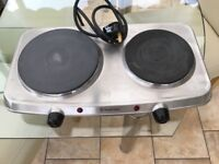 Russell Hobbs 2 Plate Mini Hot Plate Hob - Stainless Steel
