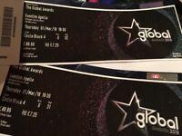 Global Awards Tickets x2