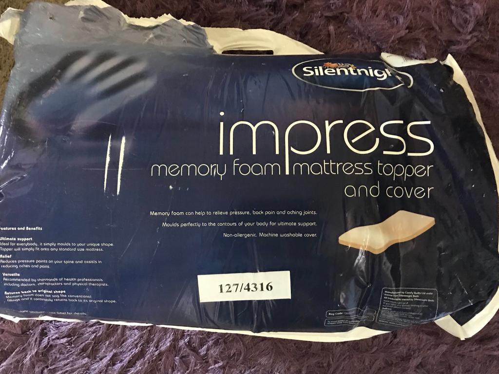 Silent night 2.5cm SINGLE impress memory foam mattress topper