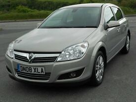 VAUXHALL ASTRA 1.8 16V VVT DESIGN, 2008, LOW MILEAGE ONLY 55'000, FSH, LONG MOT, SUPERB CONDITION