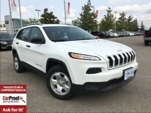 2017 Jeep Cherokee *SPORT*3.2L V6*4X4*COLD WEATHER GRP*ROOF RAIL