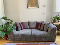 Couch, coffee table, sewing machine