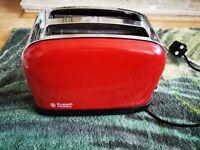 Red Russel Hobbs toaster