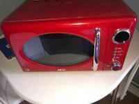 Red AKAI Microwave
