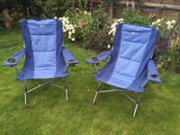 Two Folding camping or caravan chairs