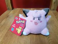 Clefairy Plush Beanie - Original 1999 Pokemon Toy