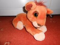 Disney Lion King, Simba's Pride purring Kovu soft toy, 25cm long plus tail