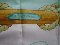 Hermes Scarf Authentic Tribord Silk Scarf Never Worn