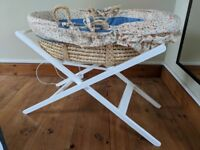 Moses basket stand for sale - white - MAKE AN OFFER! Must go.