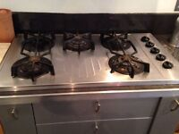 Neff 5-ring gas cooker hob