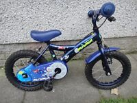 Apollo moon man bike 14 inch wheels suit age 3 to 5 years