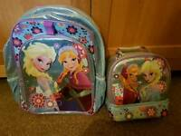 Disney store frozen rucksack and lunchbag