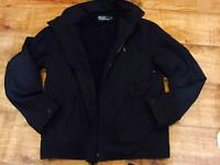 Men's Ralph Lauren lined navy jacket..size small...vgc